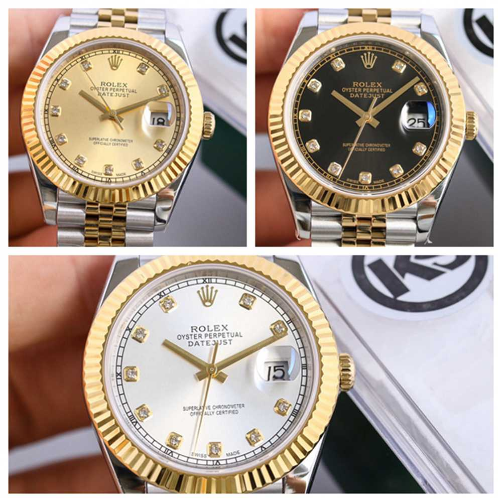 Datejust two tone gold case 39.5mm KS 2836 movement Swiss high grade