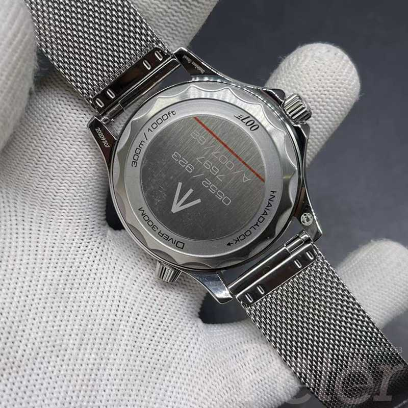 Omega AAA automatic 41mm silver case black dial 316L stainless steel WS025