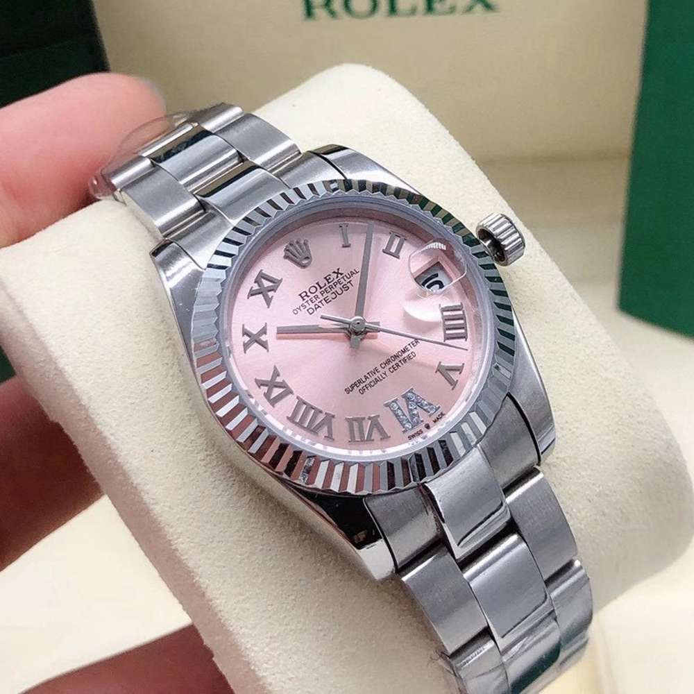 Datejust women size 31mm pink dial fluted bezel automatic lady watch Sxxx