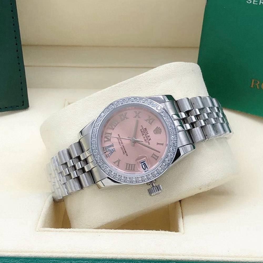 Datejust lady 31mm pink dial jubilee band roman numbers diamonds bezel Sxxx