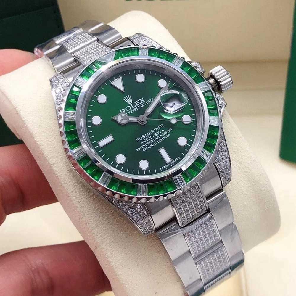 SUB diamonds baguette stones bezel 40mm AAA automatic D-blue/black/green/white dials Sxxx