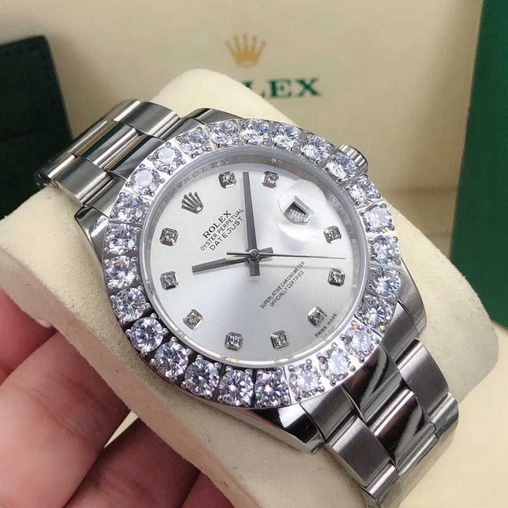 Datejust 43mm AAA automatic silver case silver dial prongset diamonds bezel oyster band Sxxx