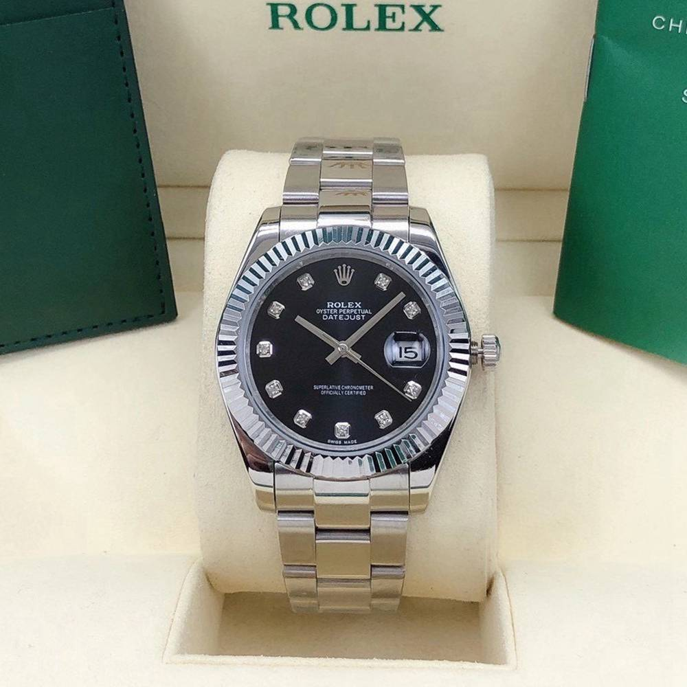 Datejust 40mm AAA automatic 2813 silver/black oyster band S