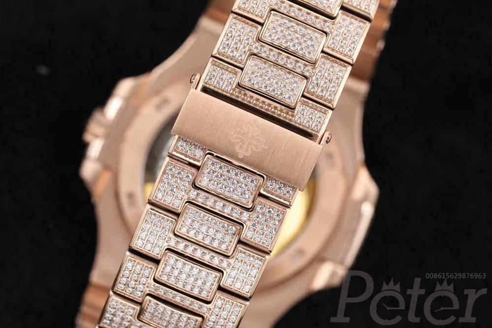 Patek 5711 R8 factory V3 full diamonds rose gold bustdown stones Cal.324 automatic WT275