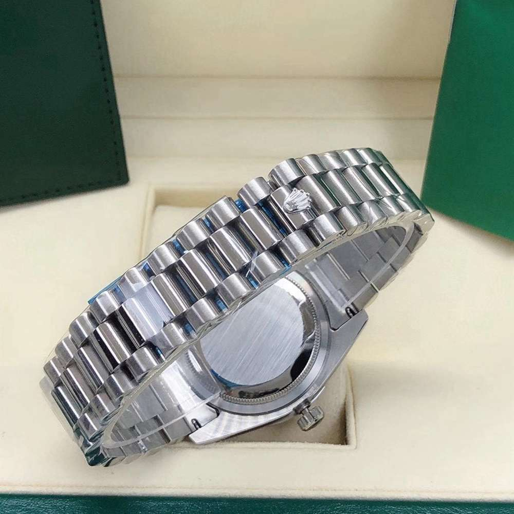 DayDate 36mm silver case diamonds face oyster band AAA automatic S