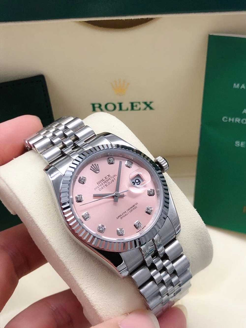 Datejust 36mm pink dial silver case jubilee band AAA automatic stone numbers S