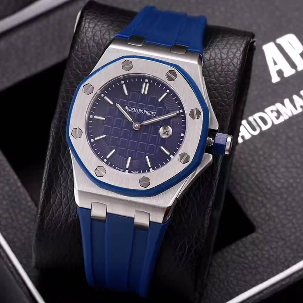 AP quartz women size 37mm stainless steel silver case different colors rubber strap XJxxx