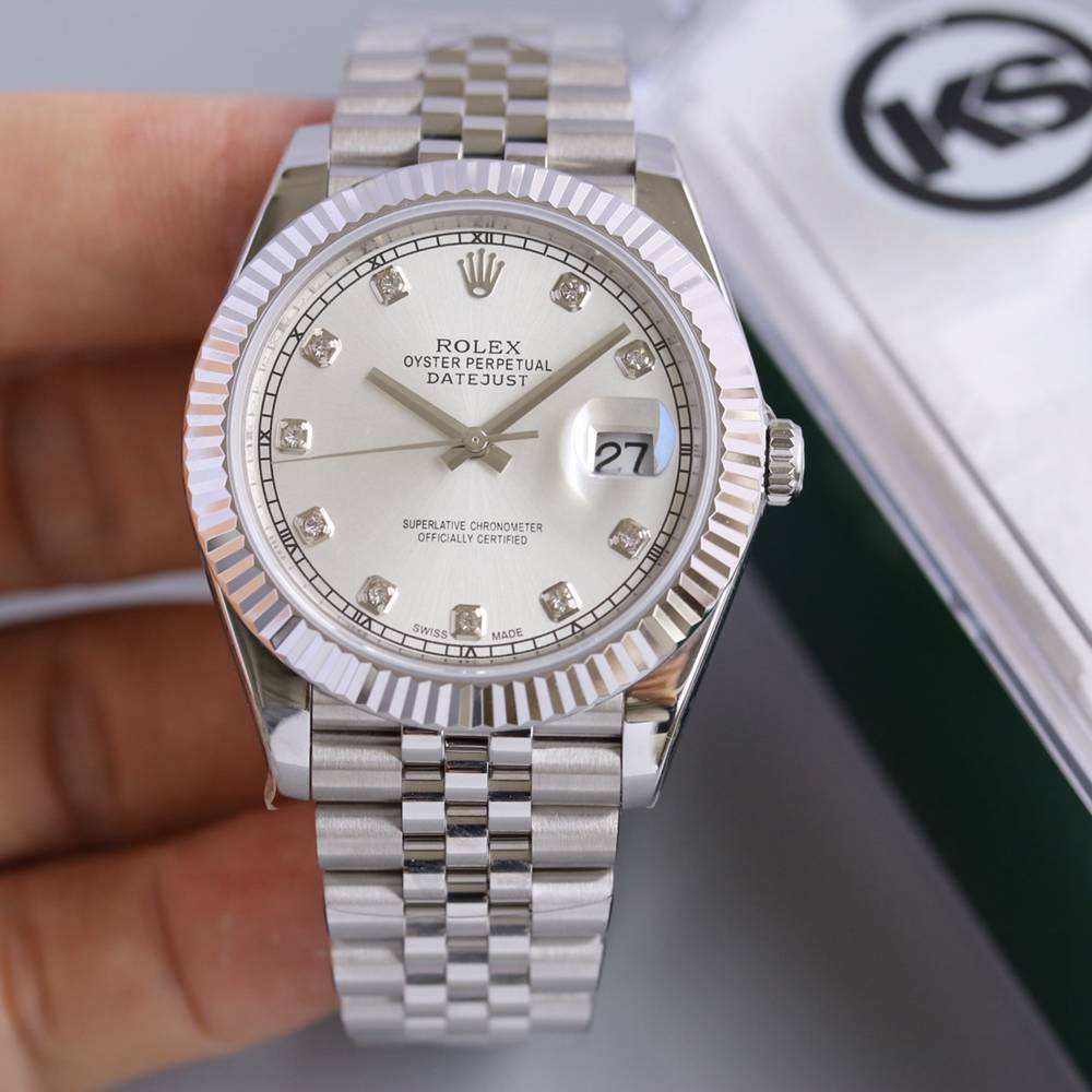 Datejust silver 39.5mm KS 2836 movement high quality