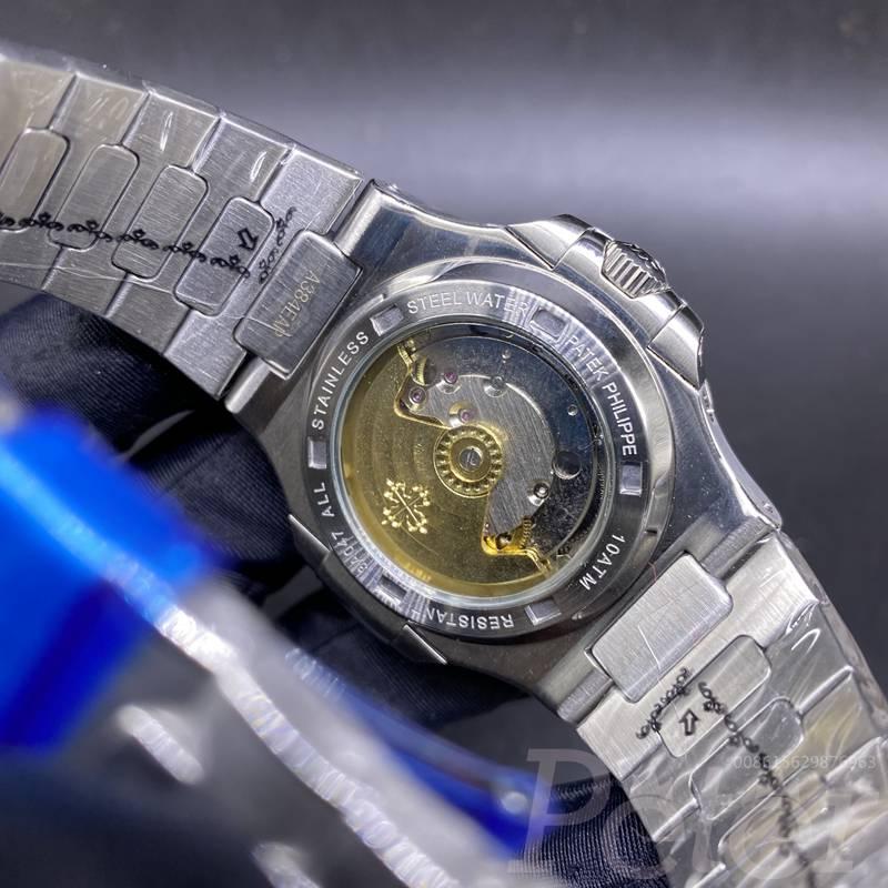 Patek AAA silver case 40mm blue dial baguette stones bezel automatic men watch XJ030