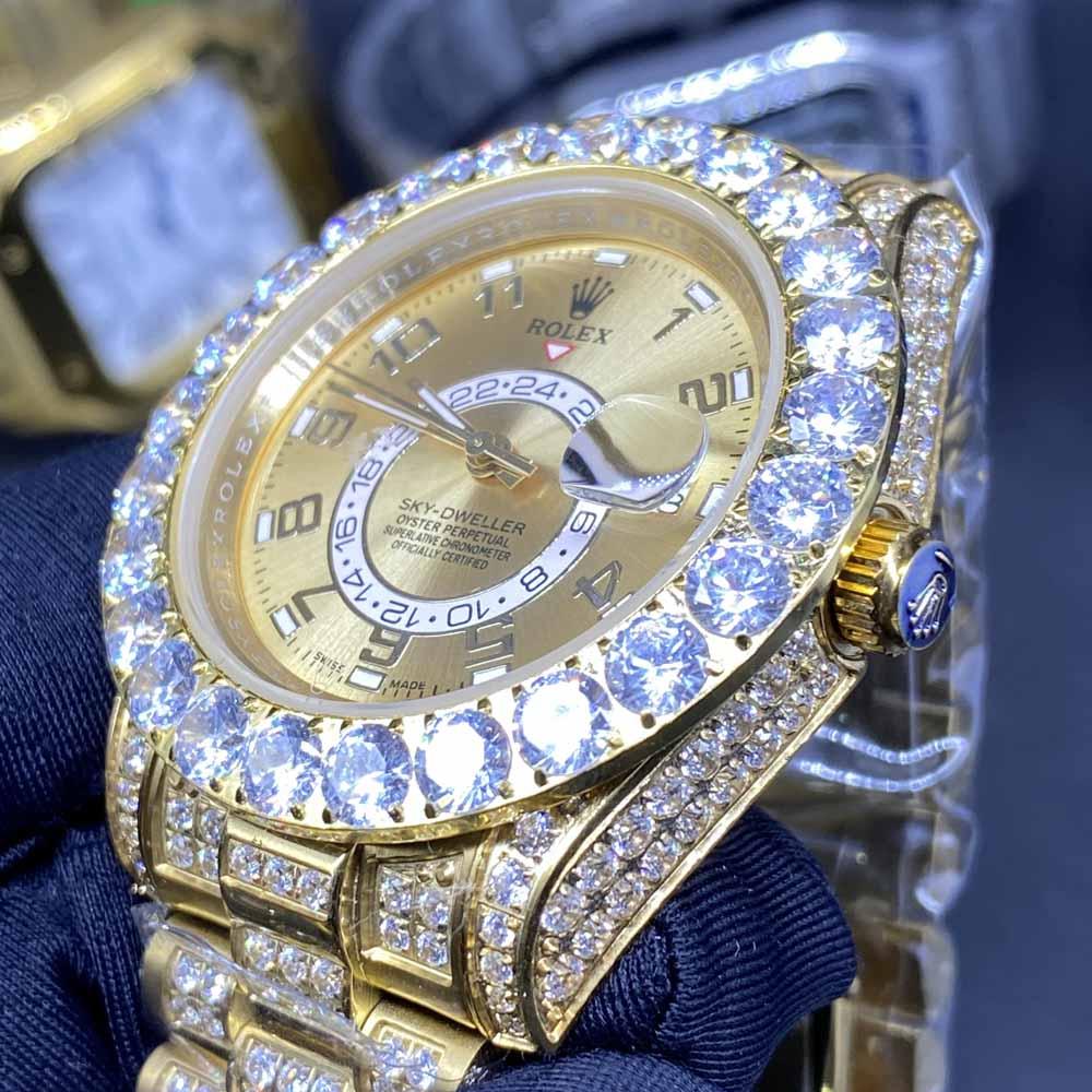 Sky-Dweller diamonds gold case 42mm president band AAA automatic men BL105