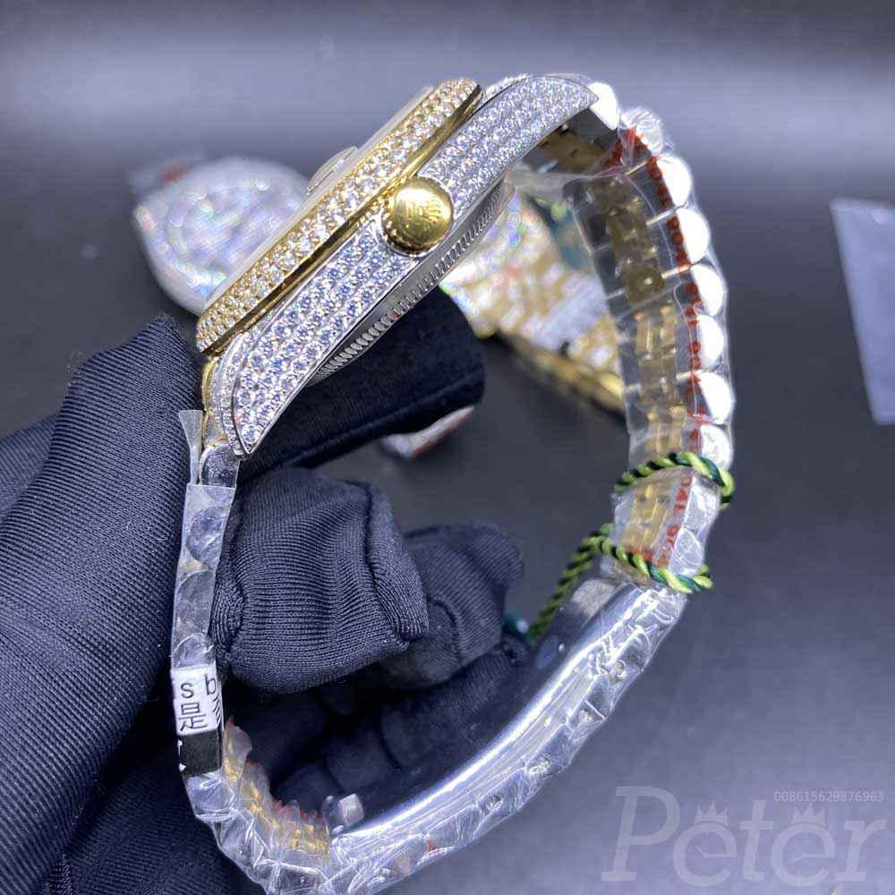 Datejust full diamonds 2tone yellow gold 40mm automatic jubilee band roman numbers XD230