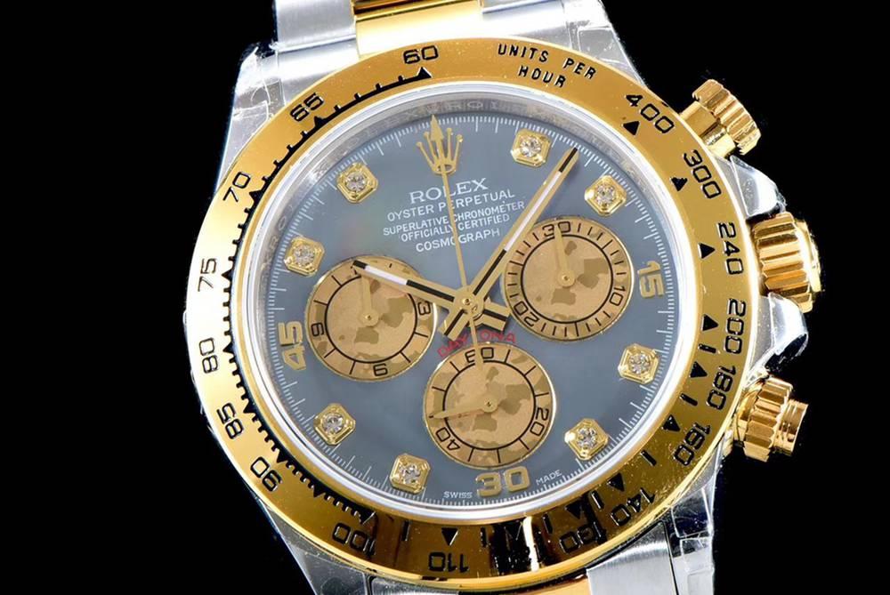 Daytona two tone gold case 38.5mm JH 4130 blue dial full works stopwatch WTxxx