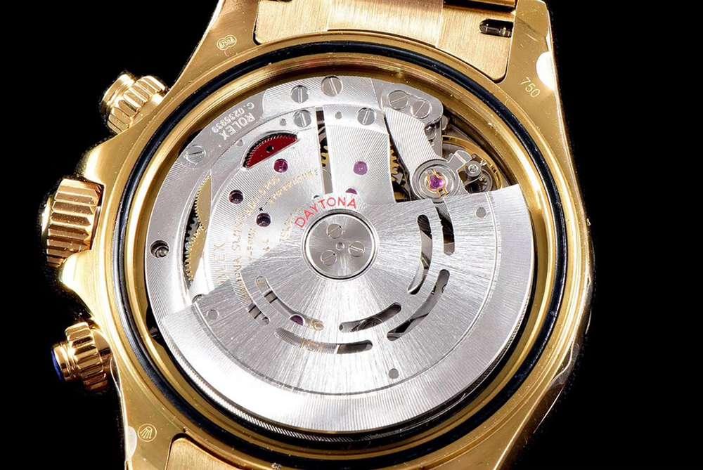Daytona Gold JH 4130 chronograph automatic blue pearl dial WTxxx