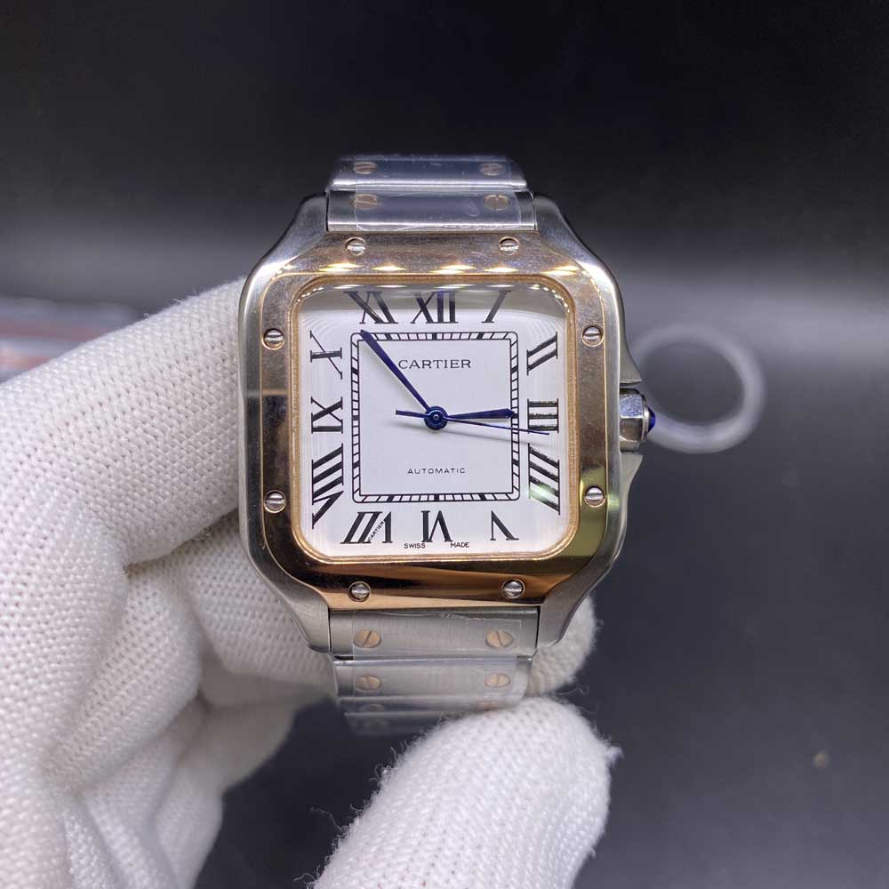 Cartier AAA women 33mm rose gold two tone case automatic movement HZ034
