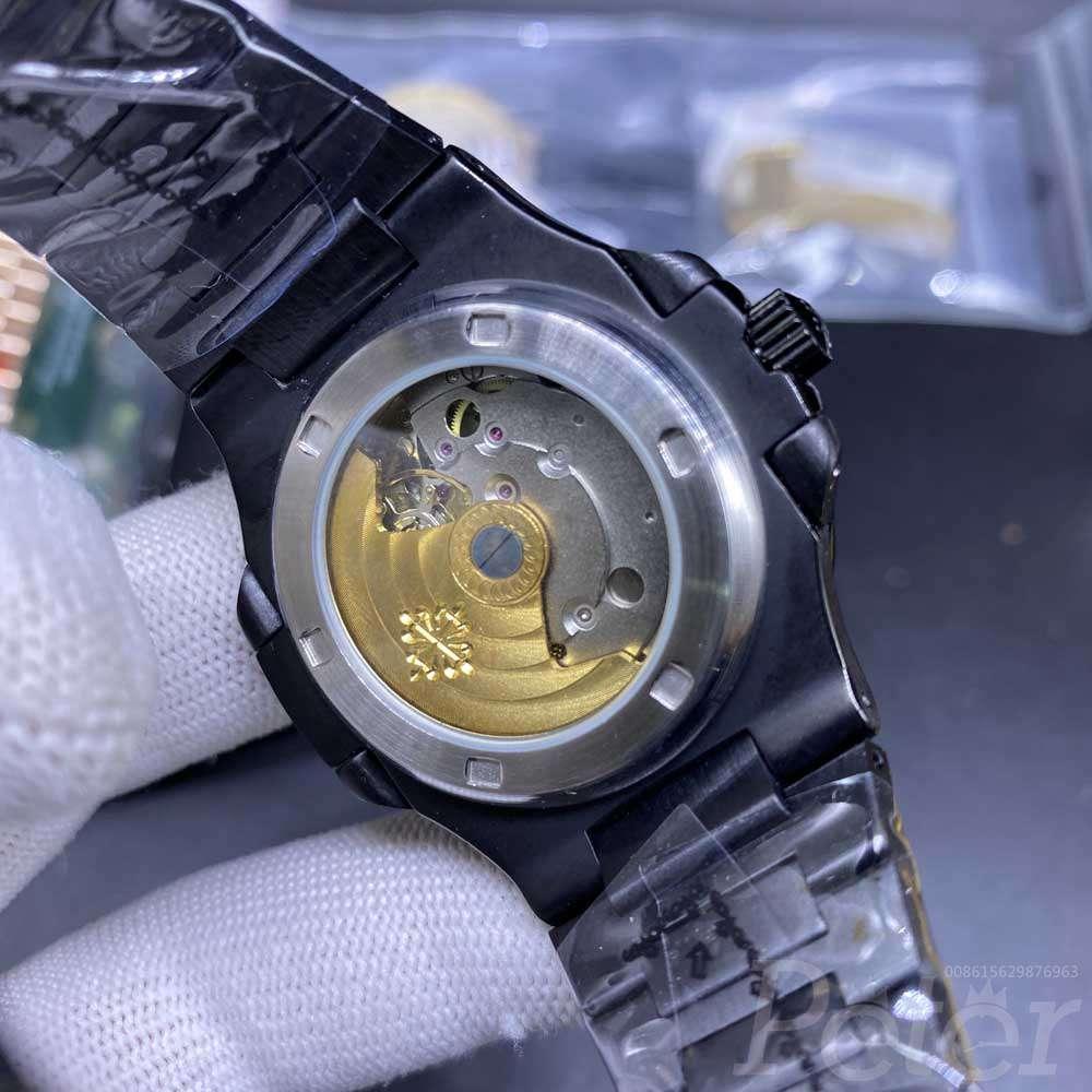 Patek black AAA automatic 40mm full black case men watch BL027
