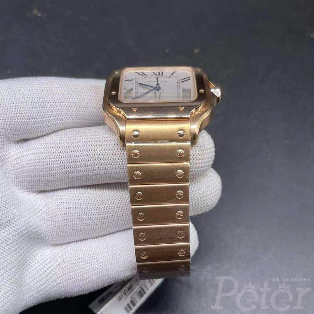 Cartier full rose gold Swiss grade TW factory 38.5mm thin case WT170