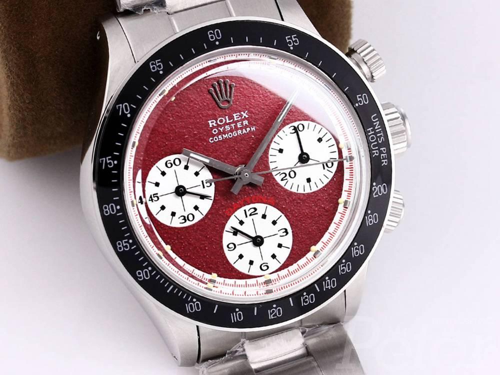 Daytona Paul Newman silver/red manual 7750 movement 37.5mm M090