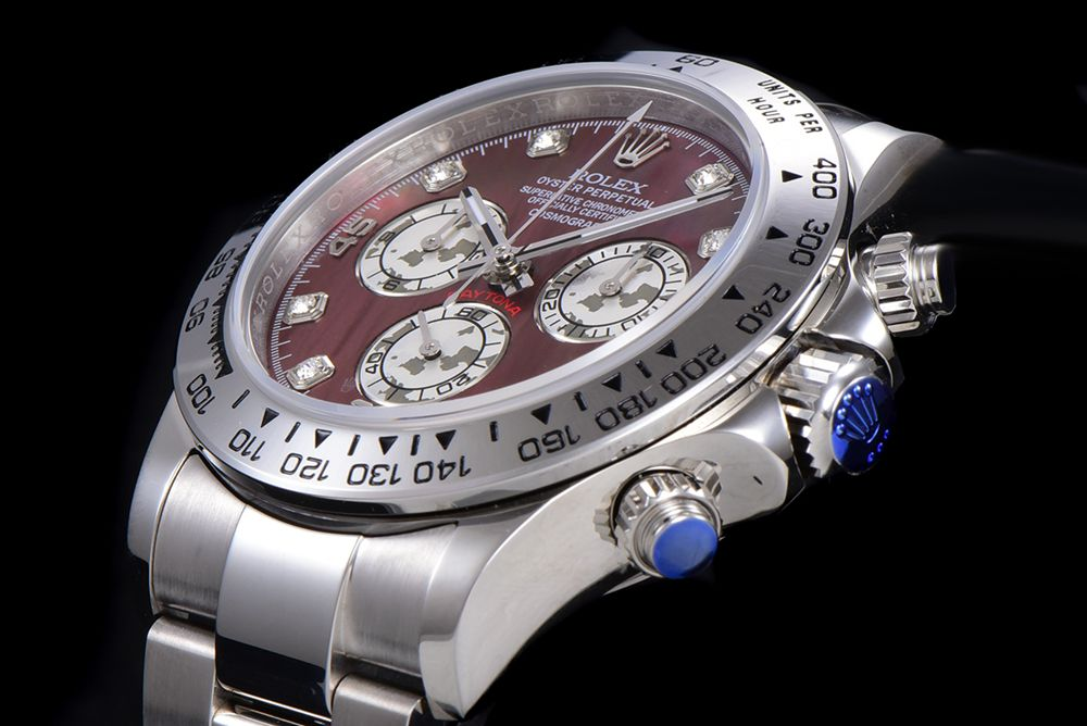 Daytona silver/red JH factory 4130 full works 38.5mm stainless steel case stopwatch WT