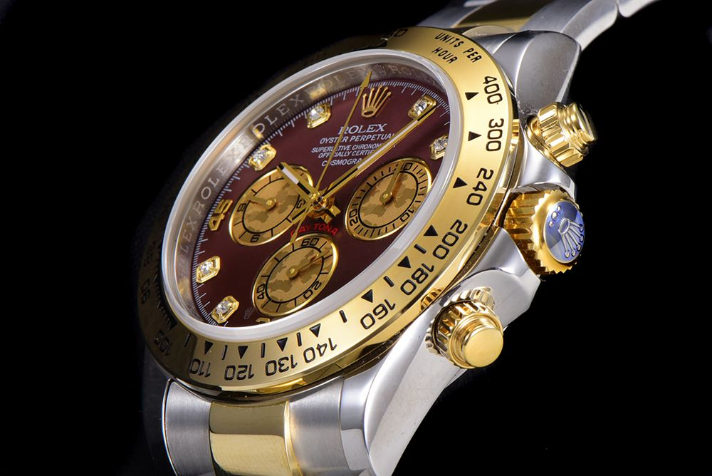 Daytona two tone gold case 38.5mm JH factory 4130 chronograph stopwatch WTxxx