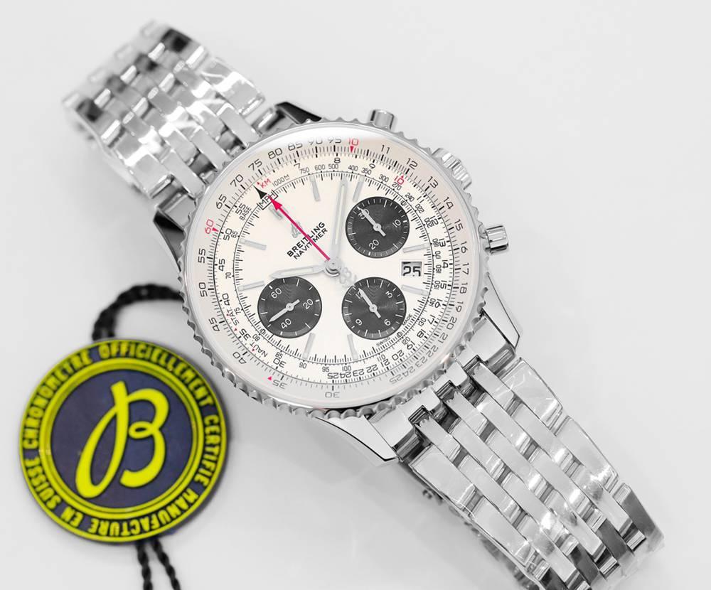 Breitling Navitimer 1 B01 Chronograph GF factory V2 version silver/white 43mm WSxxx