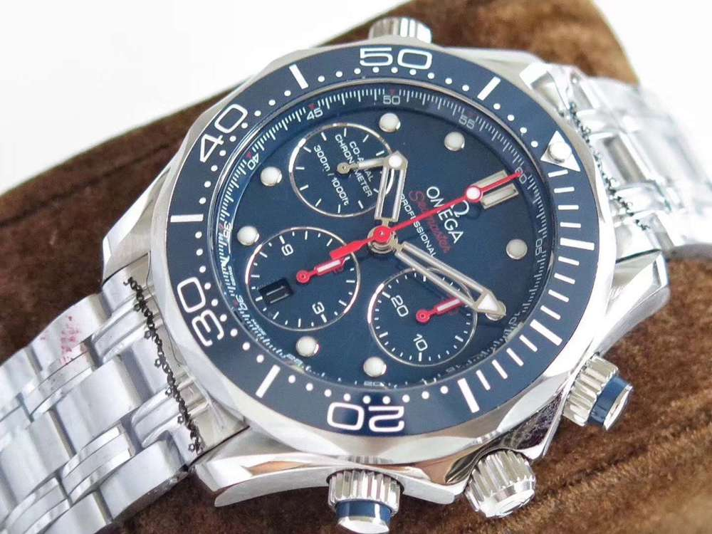 Omega Seamaster chronometer 7753 automatic full works blue dial 41.5mm M130