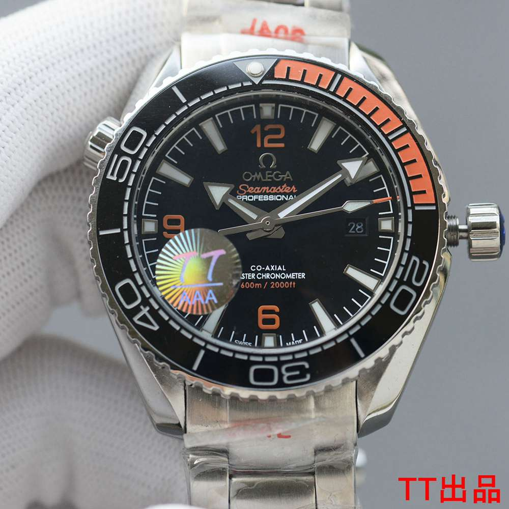 Omega Seamaster AAA+ silver case 43.5mm black dial Miyota automatic 8215 WS050