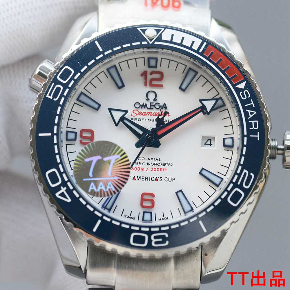 Omega 36th AMERICA'S CUP Miyota automatic 8215 AAA+ blue ceramic bezel 43.5mm WS050