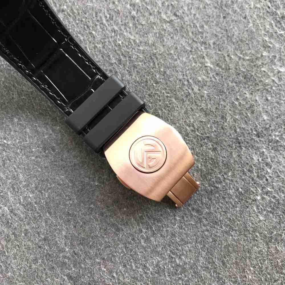 FM2001-02 V45 tourbillon manual movement rose gold with black leather WTxxx
