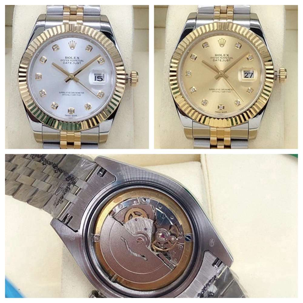 Datejust two tone gold 40mm AAA automatic 2813 silver dial and gold dial jubilee band