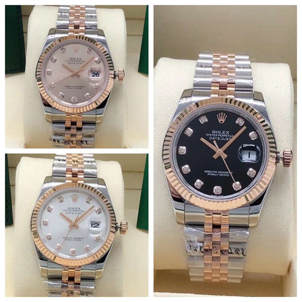 Datejust 36mm rose gold 2tone case jubilee band fluted bezel AAA automatic S