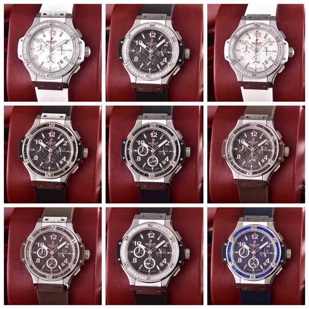 Hublot silver case 36mm women chronograph full works quartz movement XJxxx