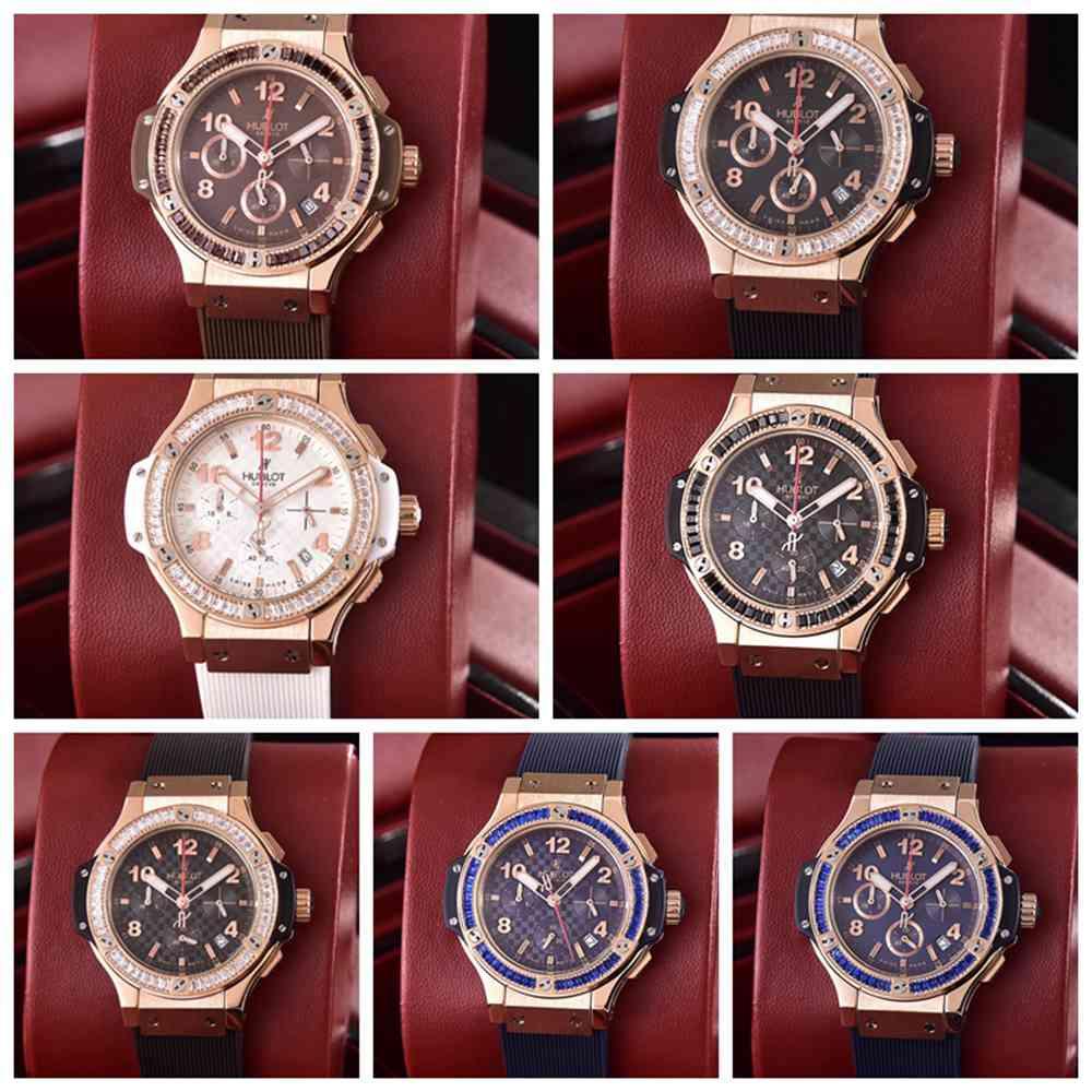 Hublot lady quartz chronograph stopwatch rose gold case 36mm xjxxx
