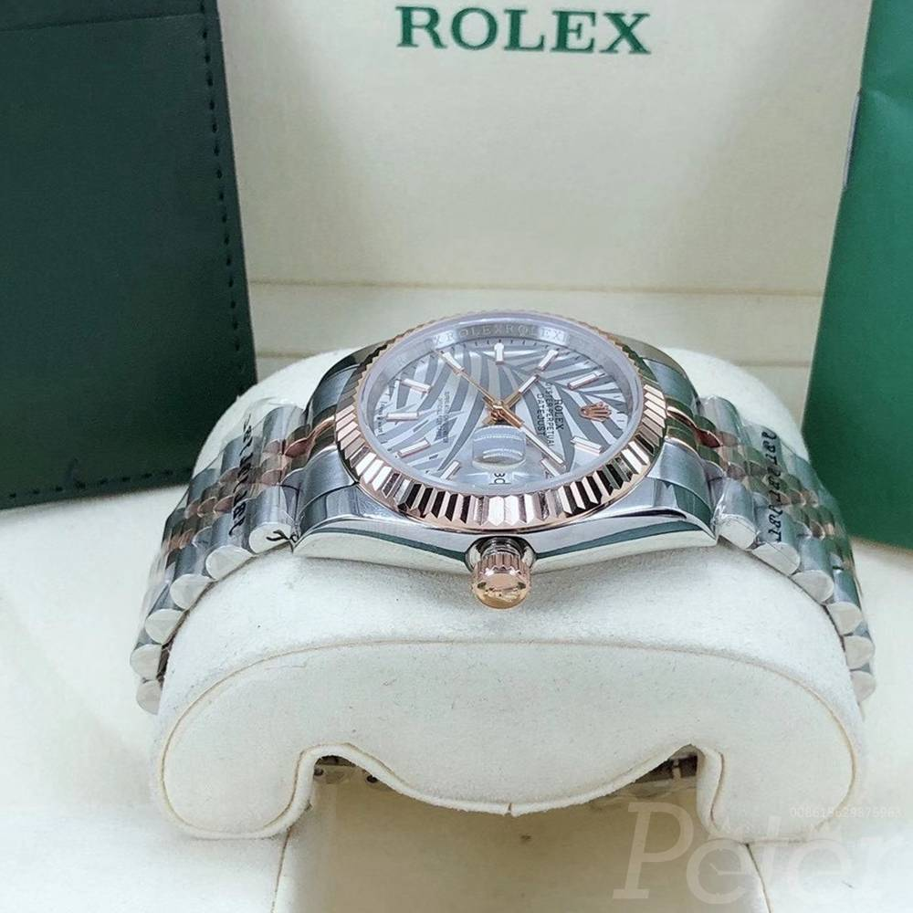 Datejust Palm leaf dial new model 36mm 2tone rose gold case jubilee band S