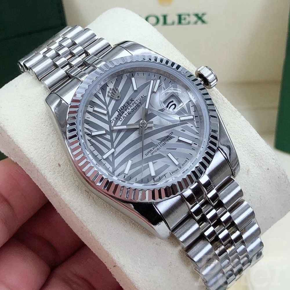 Datejust new model Palm leaf dial 36mm silver case jubilee band S