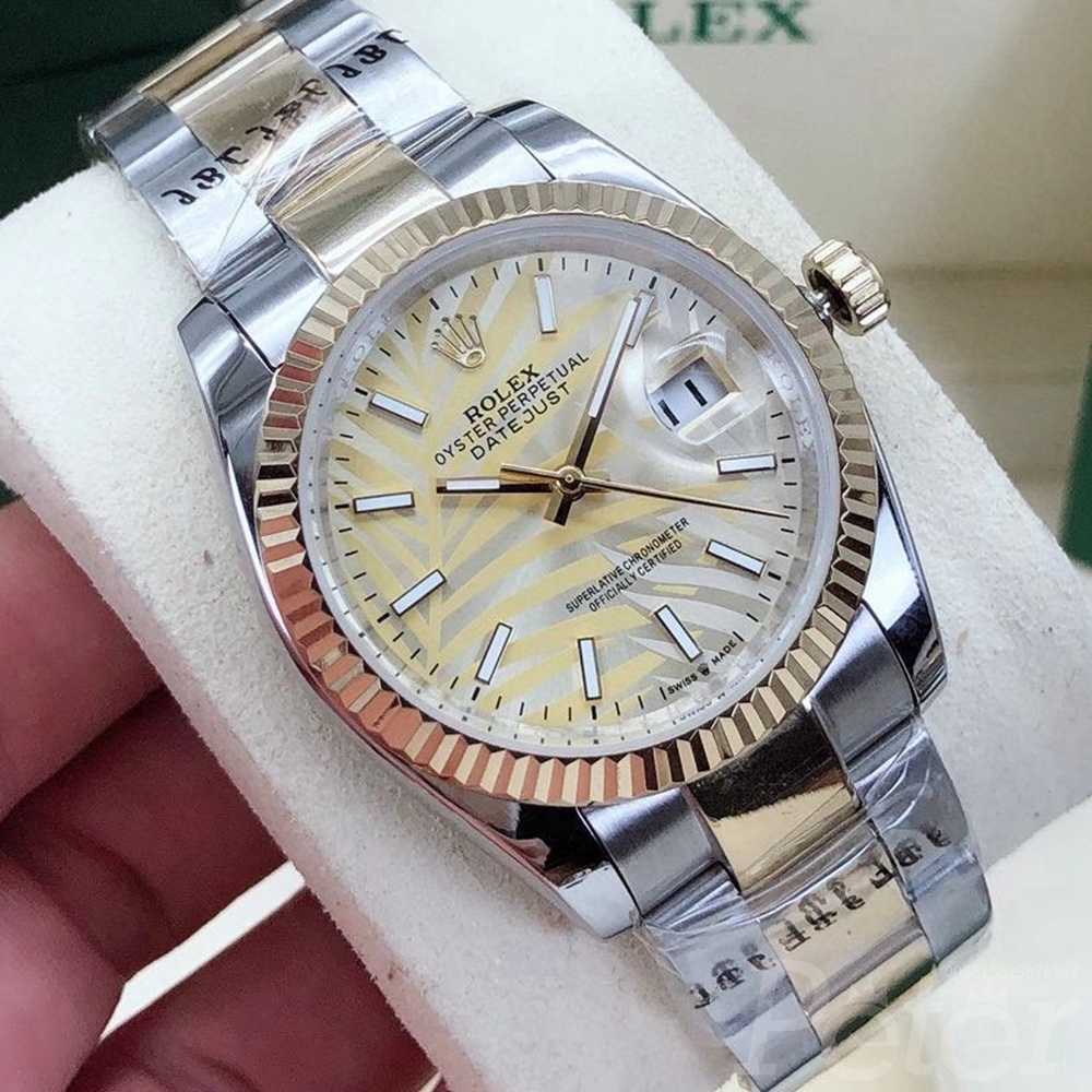 Datejust 2021 palm leaf dial 2tone gold case 36mm AAA automatic S