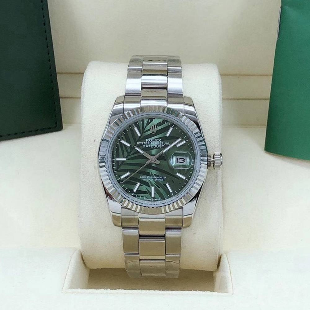 Datejust 36mm new model palm leaf green dial silver case oyster band AAA automatic s