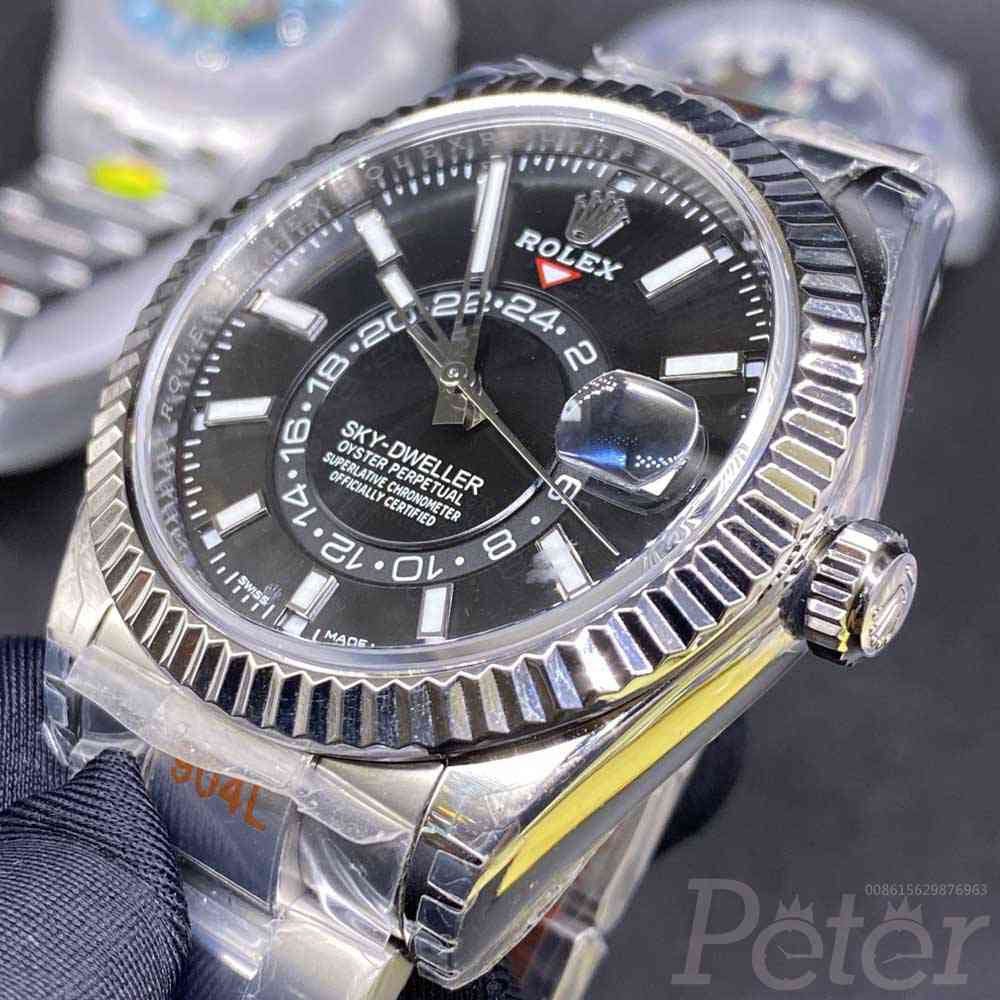 Sky-Dweller 42mm Noob factory 9001 automatic full works sub-dial black face top grade WT145