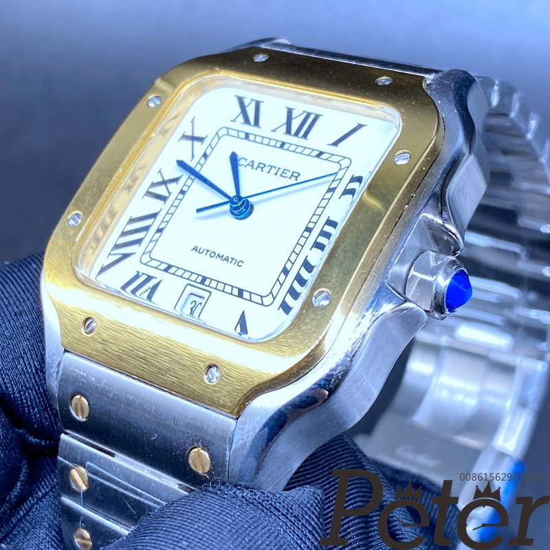 Cartier Santos 2tone yellow gold case 38.5mm automatic AAA HZ035