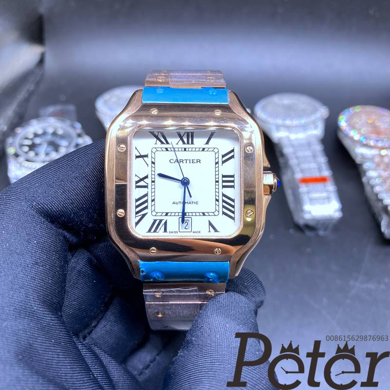 Cartier Santos rose gold case 38.5mm automatic movement AAA quality HZ035