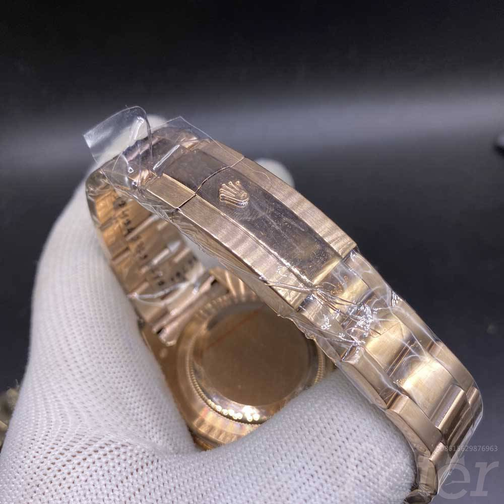 Sky-Dweller 43mm AAA automatic full rose gold case roman numbers men replica watch S038