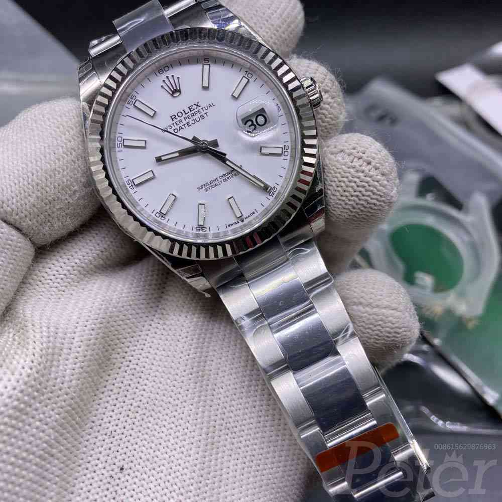 Datejust white dial EW factory 39mm oyster band Swiss 1:1 3235 movement NFC card WT110
