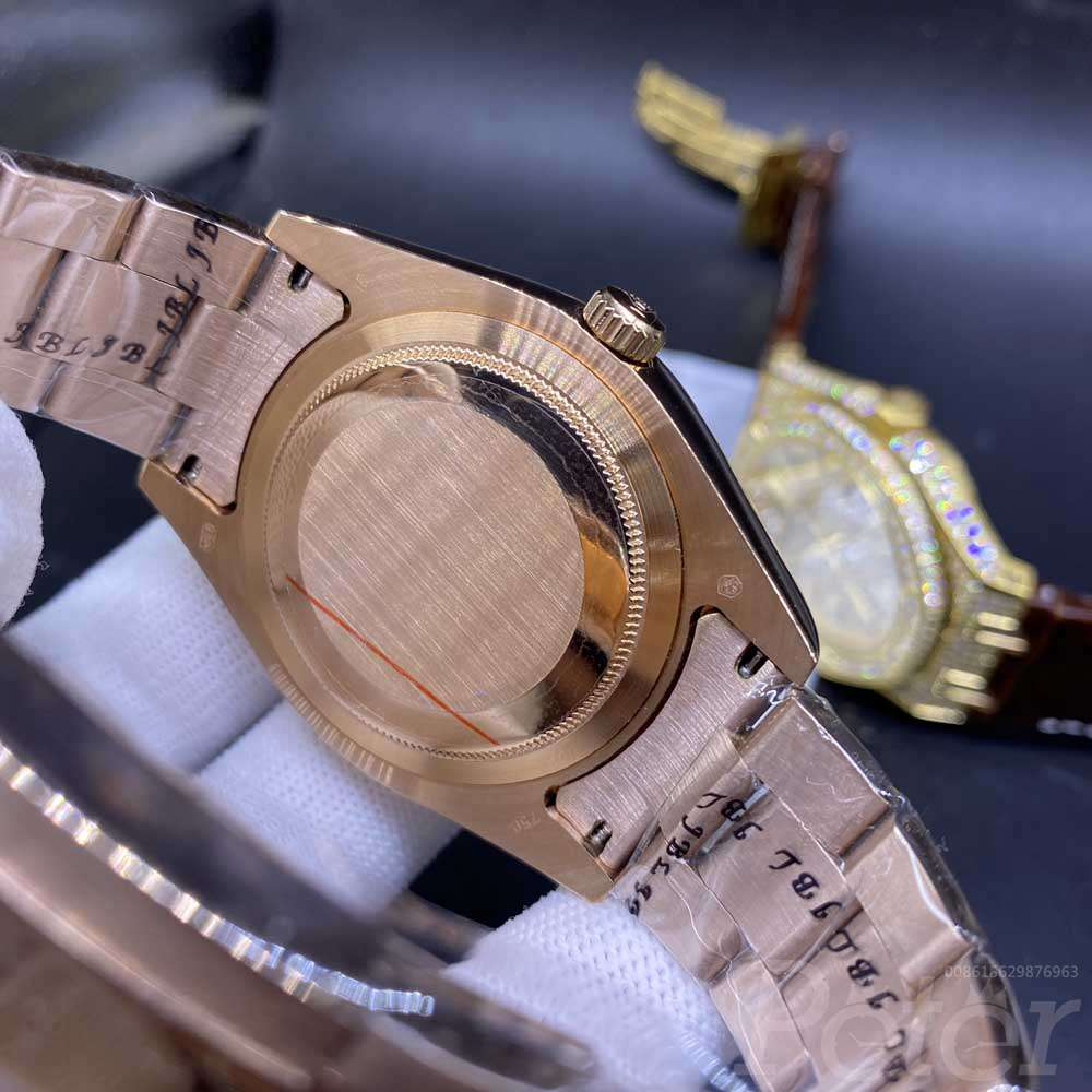 Sky-Dweller rose gold case 40mm brown face full work small circle AAA atuomatic S032