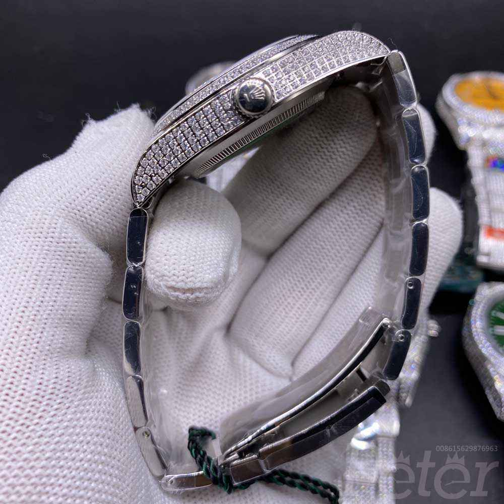 Oyster Perpetual diamonds case 41mm different color dials full diamonds silver AAA M130