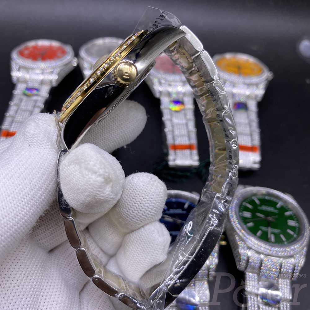 Datejust 2tone gold case 40mm gold dial diamonds bezel oyster band AAA 2813 Sxxx