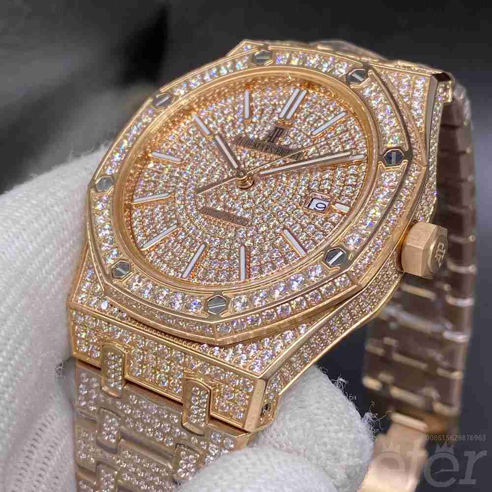 AP diamonds rose gold case full iced out face AAA automatic high quality YC140