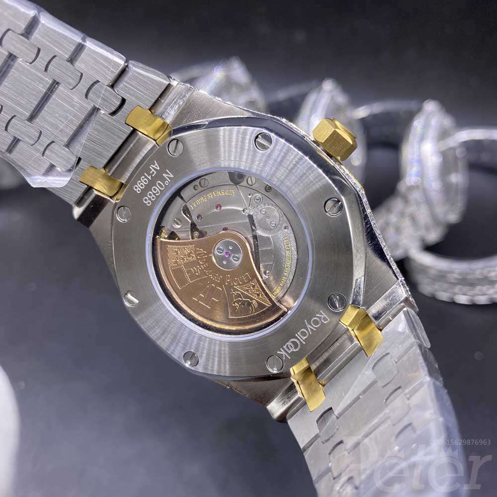 AP 2tone yellow gold case 42mm arabic numbers AAA men automatic shiny watch M140