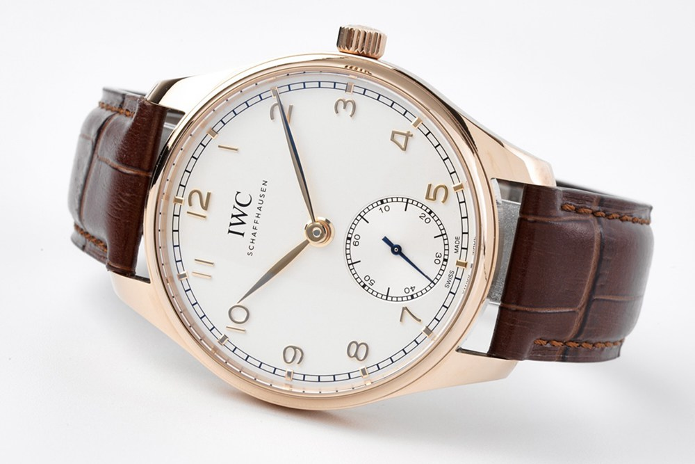 IWC 40mm ZF factory 82200 automatic rose gold case brown leather strap sapphire crystal WT