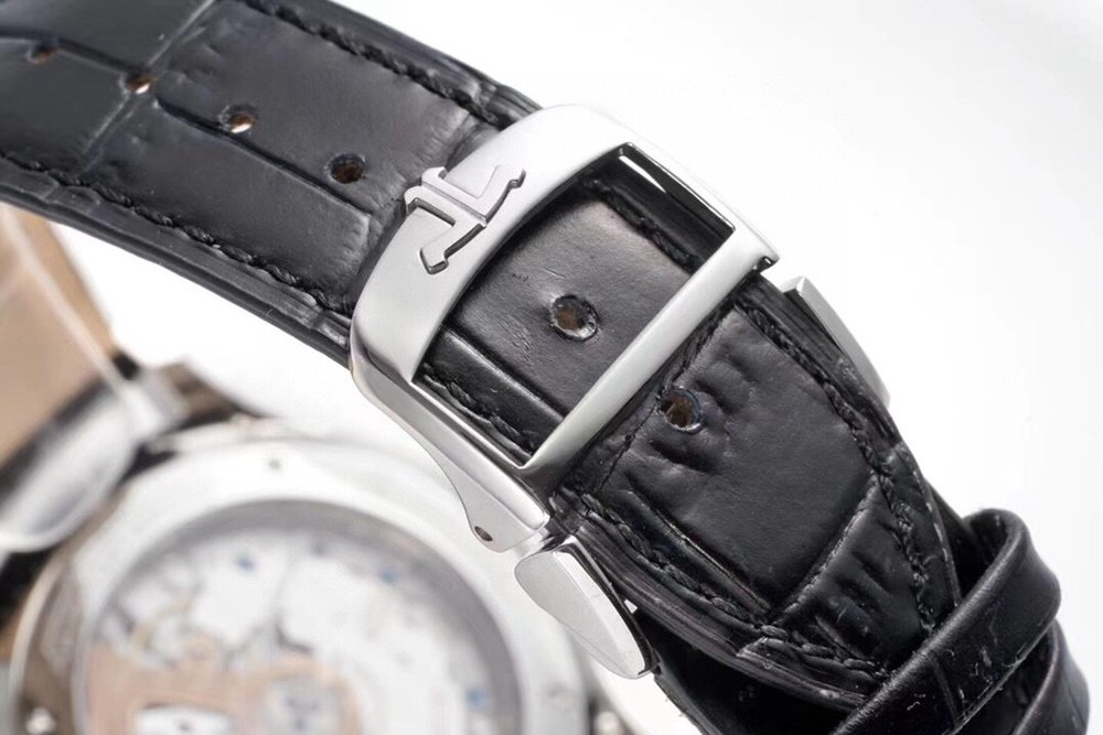 JL silver/white 39mm ZF factory top quality Cal.938 auto Q1368420 black leather WT