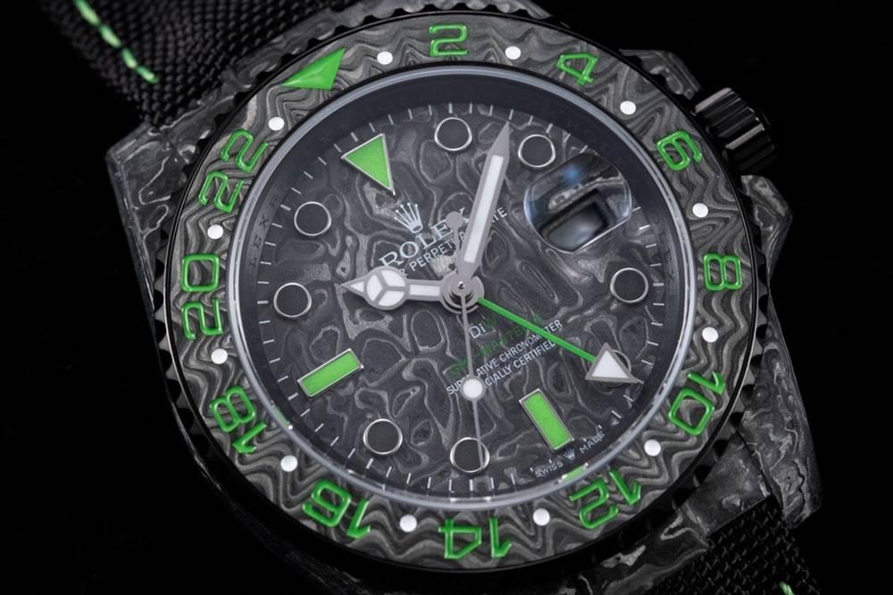 GMT DiW Carbon case 40mm JH new model Cal.3186 automatic top grade men watch Mxxx