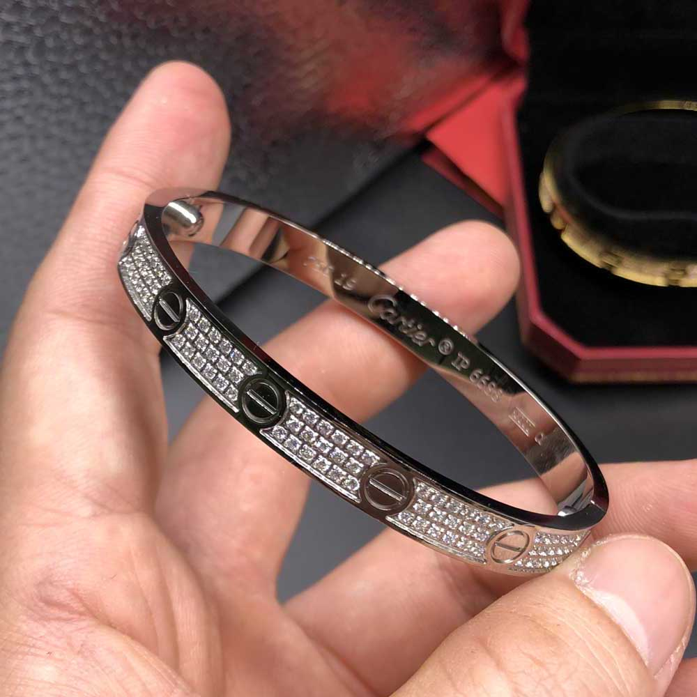 Cartier bracelets gold/rose gold/silver diamonds bangles 16-17-18-19cm X022